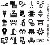 set of 25 icons such as glasses ...