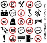 set of 25 icons such as no pets ...