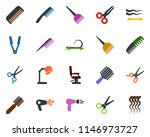 colored vector icon set  ... | Shutterstock .eps vector #1146973727
