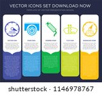 5 vector icons such as...