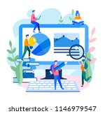vector flat illustration... | Shutterstock .eps vector #1146979547