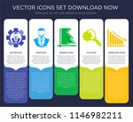 5 vector icons such as user...