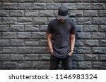 handsome african american man... | Shutterstock . vector #1146983324
