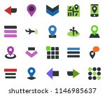 colored vector icon set   plane ... | Shutterstock .eps vector #1146985637