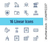 secure icon set and global... | Shutterstock .eps vector #1146992237