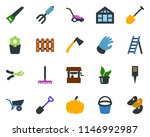 colored vector icon set  ... | Shutterstock .eps vector #1146992987