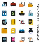 color and black flat icon set   ... | Shutterstock .eps vector #1146997157