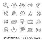 set of job hunting line icon ... | Shutterstock .eps vector #1147004621