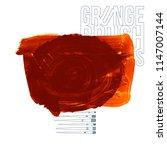 orange brush stroke and texture.... | Shutterstock .eps vector #1147007144