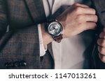closeup fashion image of luxury ... | Shutterstock . vector #1147013261