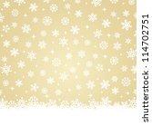 Christmas Card   Snow On Gold...