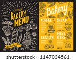 bakery menu for restaurant.... | Shutterstock .eps vector #1147034561