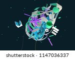 abstract stylish 3d composition ... | Shutterstock . vector #1147036337