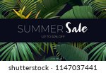 summer vector floral sale... | Shutterstock .eps vector #1147037441