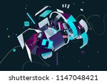abstract stylish 3d composition ... | Shutterstock . vector #1147048421