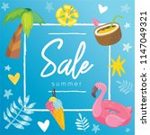 summer sale banner design... | Shutterstock .eps vector #1147049321