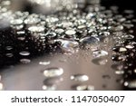waterdrops on glass surface... | Shutterstock . vector #1147050407