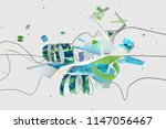 abstract stylish 3d composition ... | Shutterstock . vector #1147056467