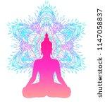 chakra concept. inner love ... | Shutterstock .eps vector #1147058837