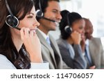 young employee working with a... | Shutterstock . vector #114706057