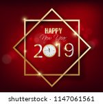 happy new year 2019 and merry... | Shutterstock .eps vector #1147061561