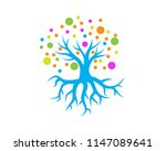creative tree colorful logo... | Shutterstock .eps vector #1147089641