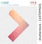 right open polygonal symbol ... | Shutterstock .eps vector #1147099631