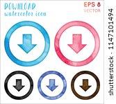 download watercolor icon set.... | Shutterstock .eps vector #1147101494