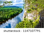 mountain forest river panoramic ...   Shutterstock . vector #1147107791