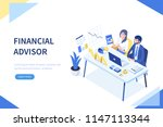 financial advisor concept... | Shutterstock .eps vector #1147113344