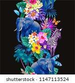 tropical seamless vertical... | Shutterstock .eps vector #1147113524