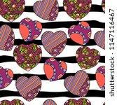 cute doodle seamless wallpaper... | Shutterstock .eps vector #1147116467