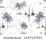 beautiful tropical vector... | Shutterstock .eps vector #1147127921