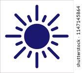 sun icon vector. | Shutterstock .eps vector #1147145864
