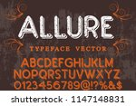 vintage font handcrafted vector ... | Shutterstock .eps vector #1147148831