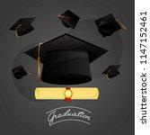 congratulations graduation card | Shutterstock .eps vector #1147152461