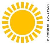 sun icon with beams  as vector... | Shutterstock .eps vector #1147154207
