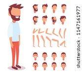 flat vector guy character for... | Shutterstock .eps vector #1147161977