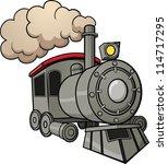 cute cartoon train. vector...