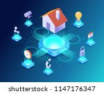 smart home control concept.... | Shutterstock .eps vector #1147176347