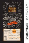 food menu for restaurant.... | Shutterstock .eps vector #1147178474