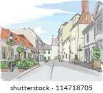 European City Street Color...