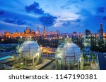 gas storage sphere tanks and... | Shutterstock . vector #1147190381
