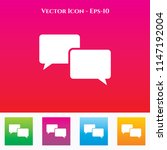 speech bubble or comments icon... | Shutterstock .eps vector #1147192004