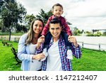 portrait of a young colombian... | Shutterstock . vector #1147212407
