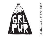 grl pwr short quote. girl power ... | Shutterstock .eps vector #1147214387
