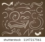 hand drawn curvy and round... | Shutterstock .eps vector #1147217561