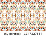 melting colorful symmetrical... | Shutterstock . vector #1147227554