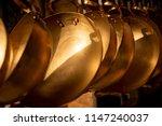 closed up shining golden brass...   Shutterstock . vector #1147240037