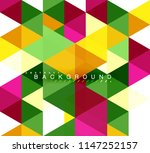 multicolored triangles abstract ... | Shutterstock .eps vector #1147252157